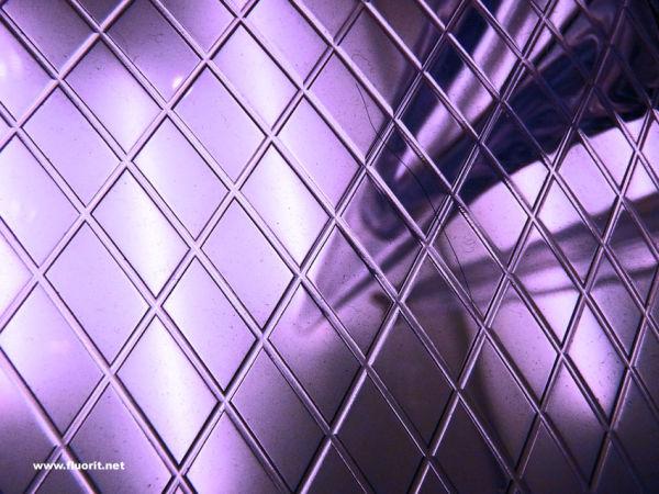 Purple glass seat