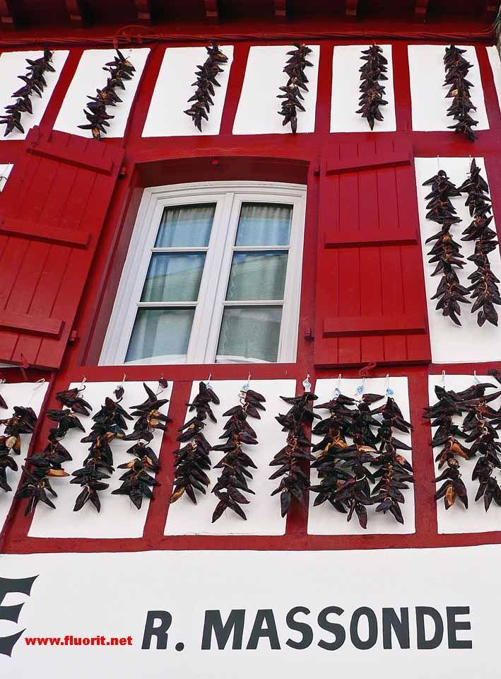 Basque window in Espelette