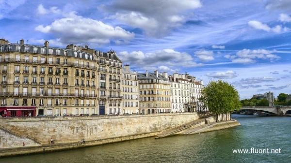 Paris buildings along the Seine