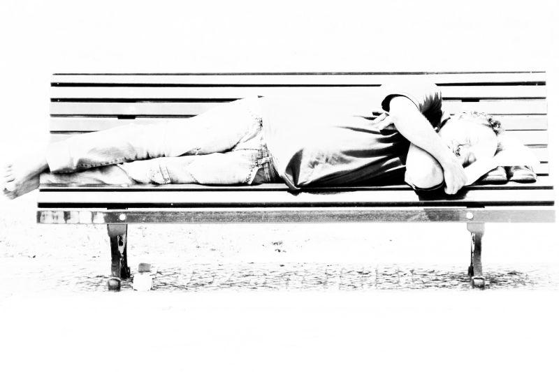 Man Asleep in the Park