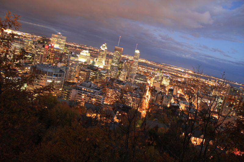 Montreal Downtown in Fall