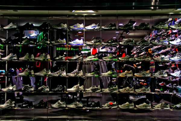Sports shoes selection
