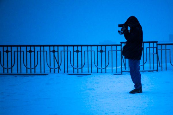 Photographer in Snow
