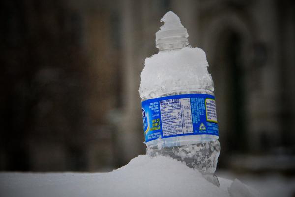 Bottle in Snow