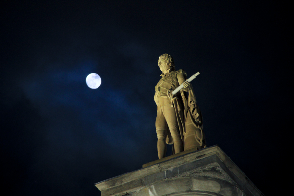Moon and Statue
