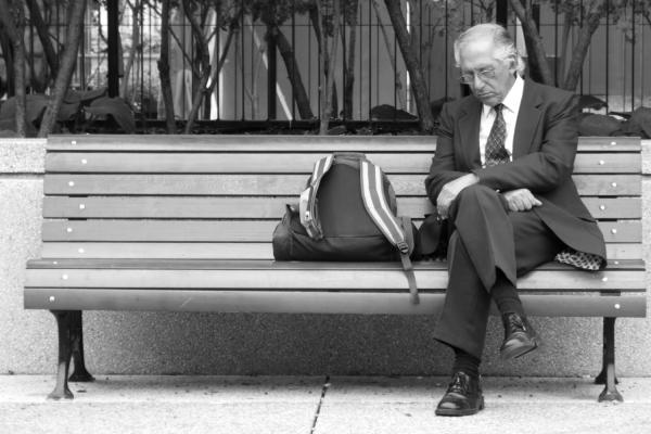 Gentleman on Bench