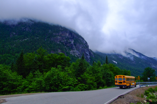 School Bus Goes Away
