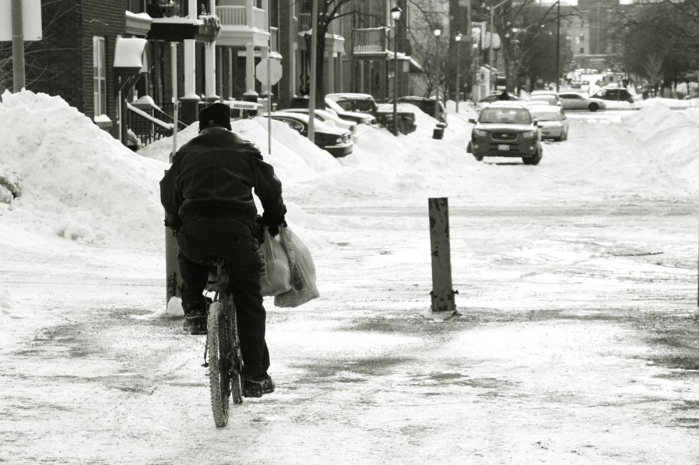 Biker in Winter