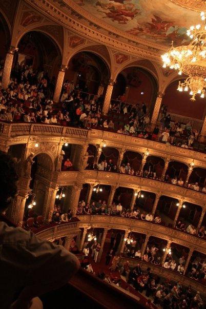 inside the Hungarian National Opera House
