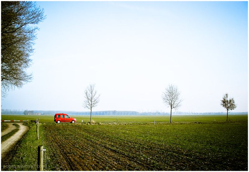 landscape with car