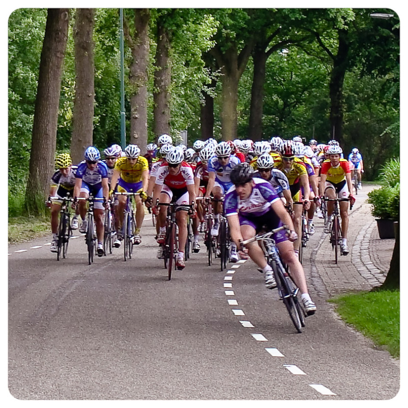 Cycling 1 - waiting for the race to pass