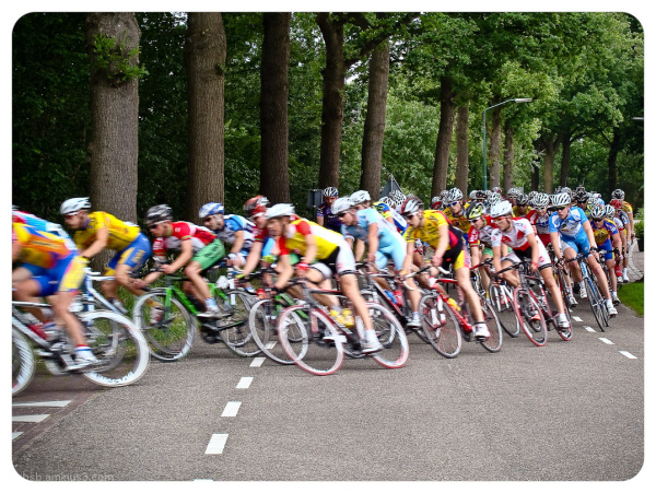 Cycling 2 - waiting for the race to pass