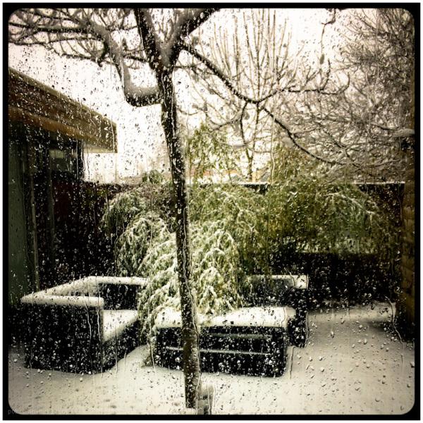 2015, patio, snow
