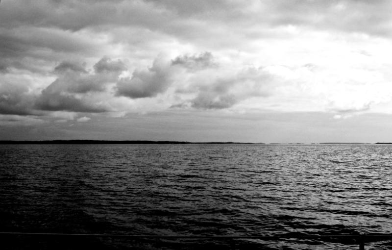 Baltikoa (sea) zuri beltzean (b&w)