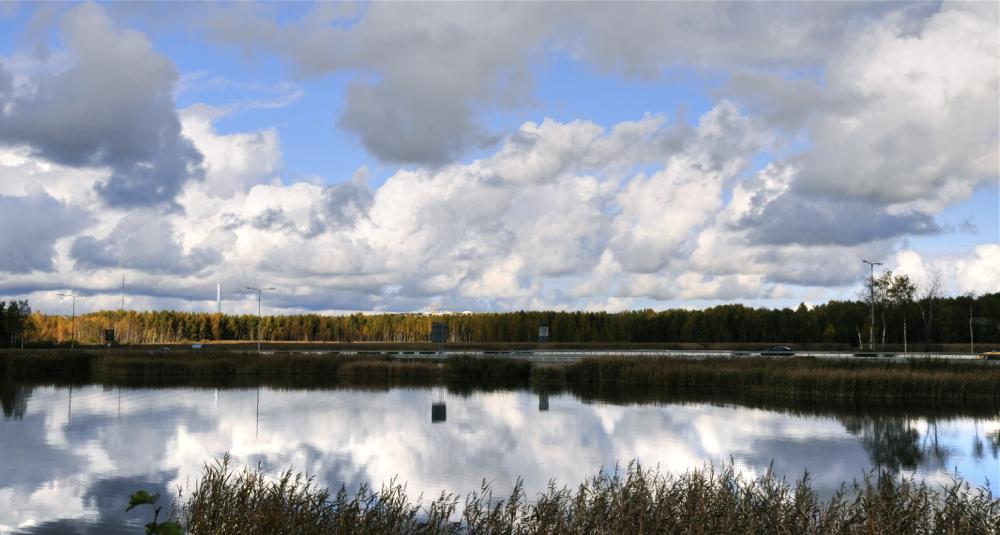 Hodeiak isladatuak/Reflected clouds