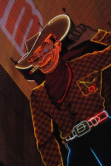 city freemont street las vegas cowboy