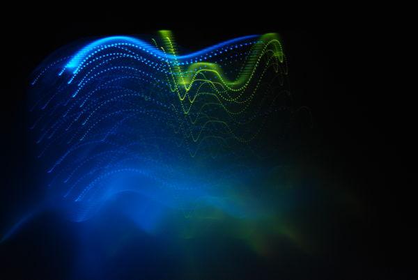 blue green light abstract