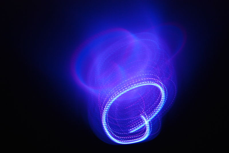 abstract light drawing blue