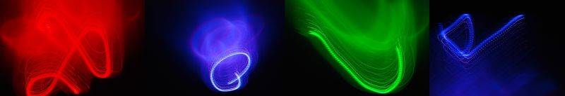 abstract light drawing love