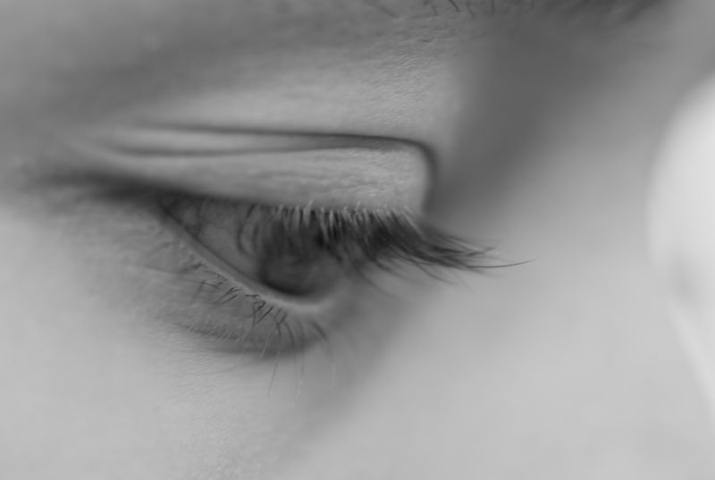 people portrait girl lashes eye