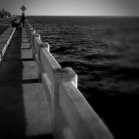 sport recreation bridge ocean fishing