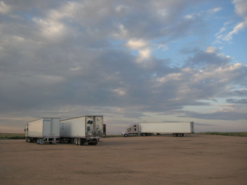 truck stop in wyoming, usa