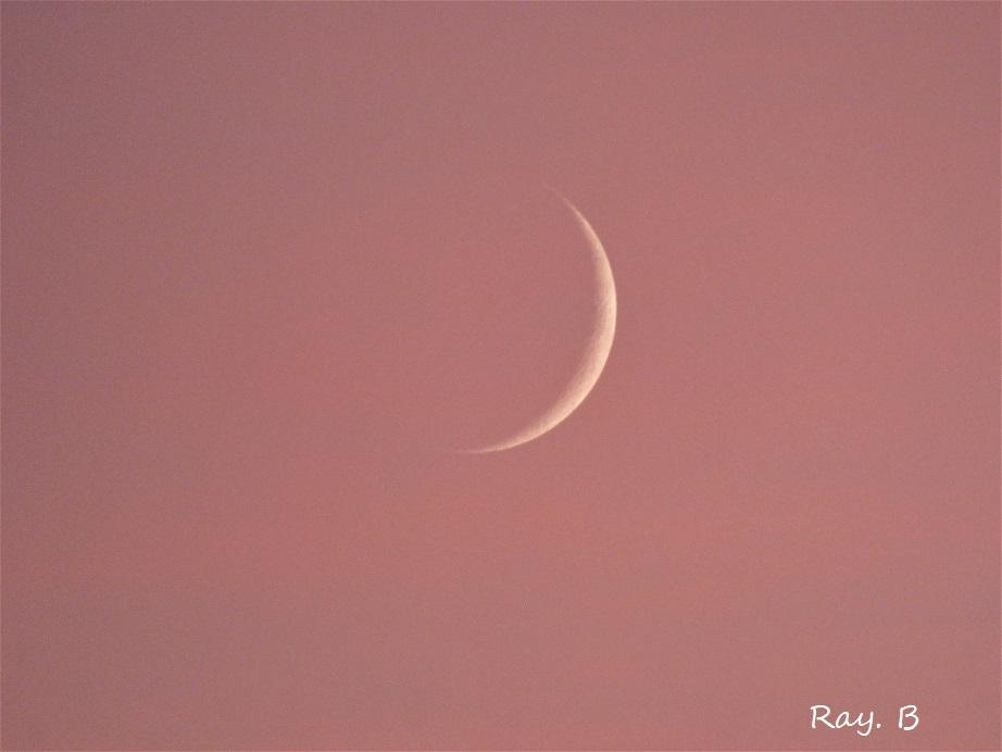 La lune avait rendez-vous avec le soleil !...