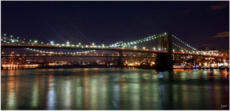 Reflections under the Brooklyn Bridge