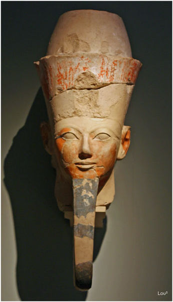 An Egyptian Head at the Met of NYC