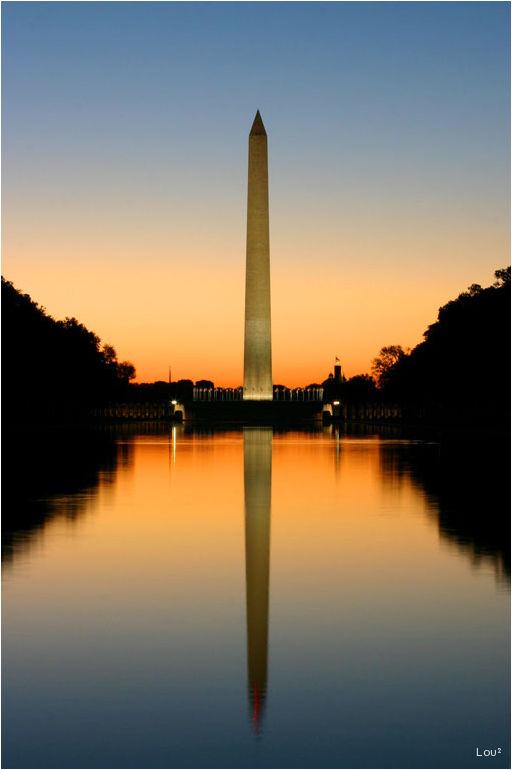 Sunset on the Washington DC refelcting pool