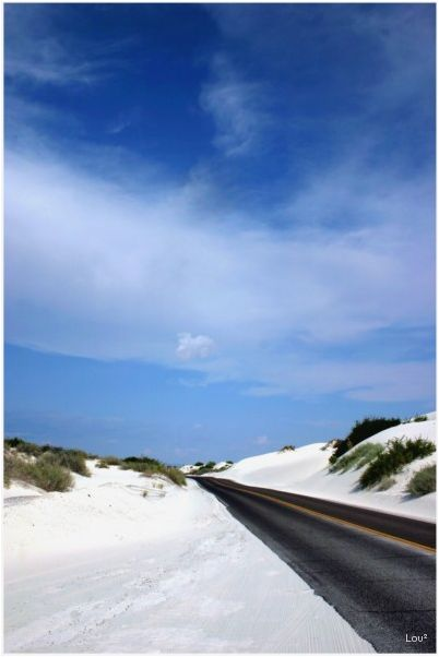 On the road in White Sands