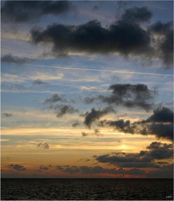 Sundown over the Atlantic Ocean
