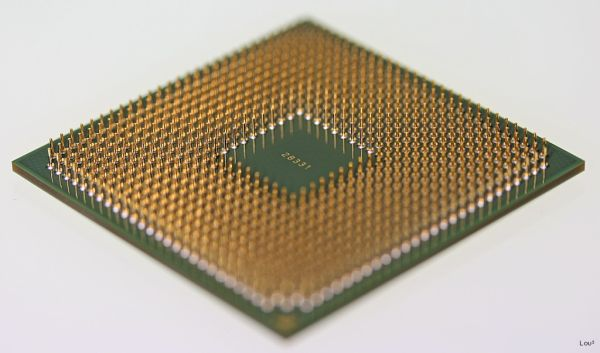 Close up on a processor