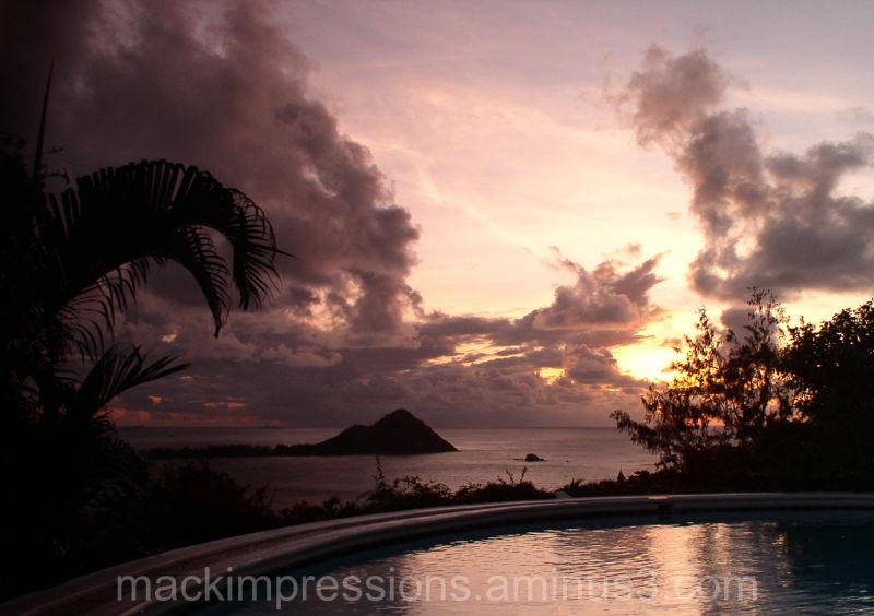 Pigeon Point, St. Lucia sunset by Kristen Mack