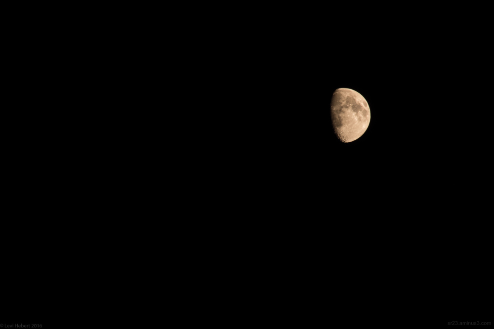 photo of the partial moon