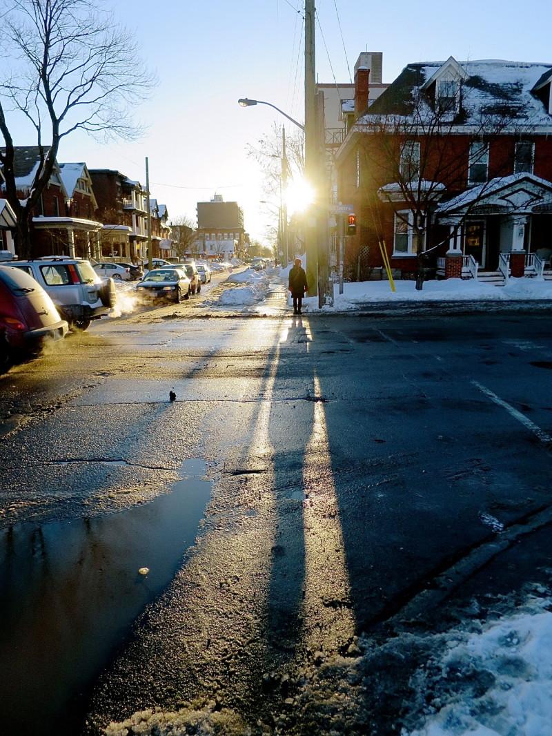 Winter City Sunset
