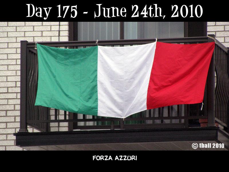 Day 175 - Forza Azzurri