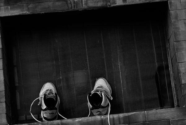 Shoes framed somewhere in Beijing