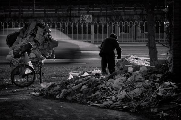 Man in Beijing street, China