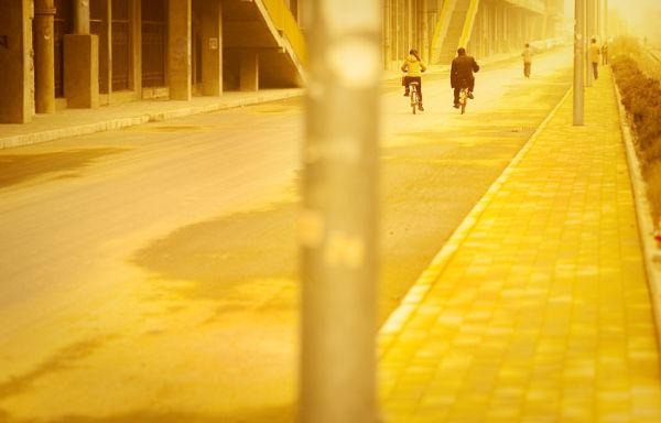 Unusual morning in Beijing.