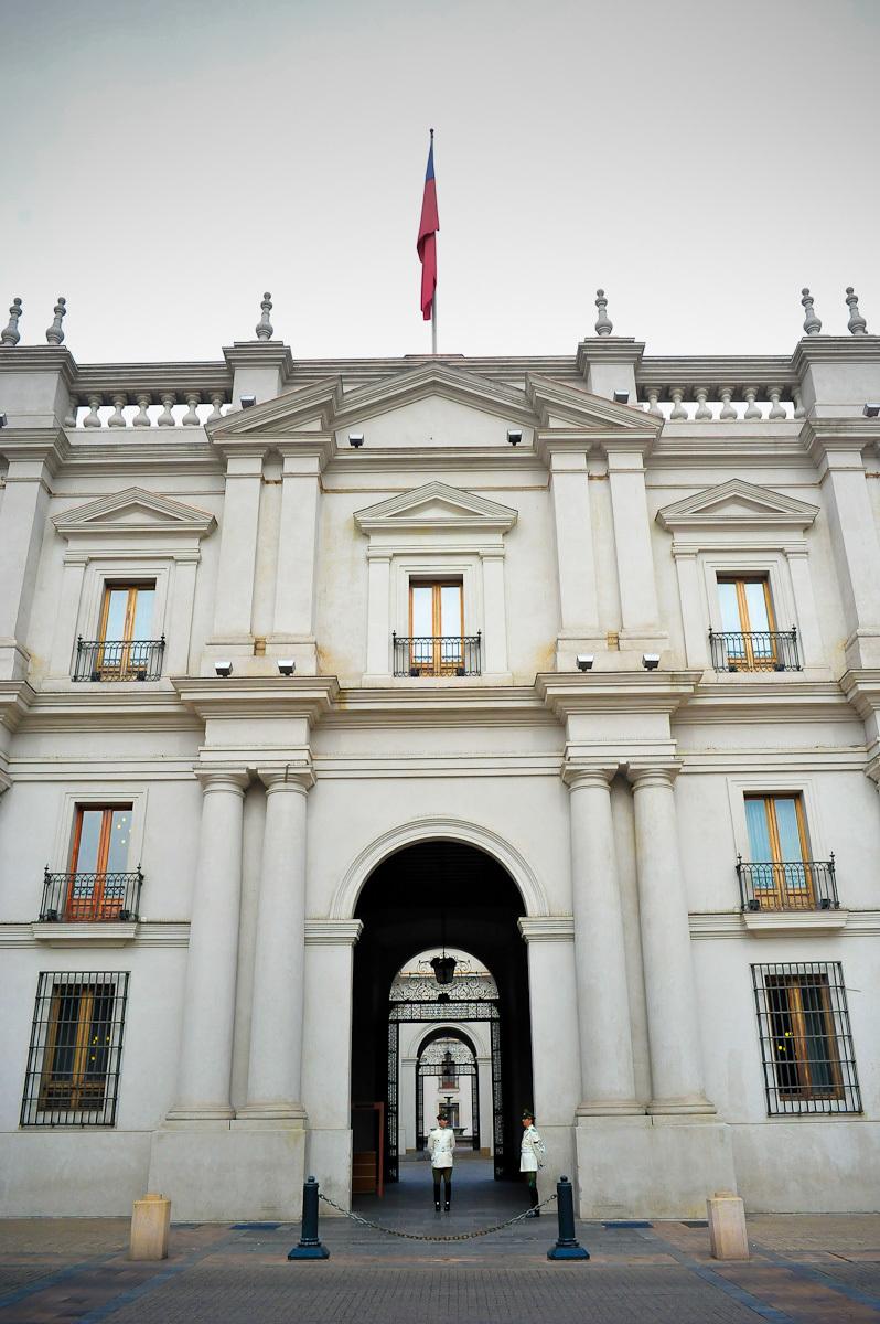 La Moneda Palace in Santiago front