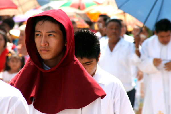monk red celebration religion