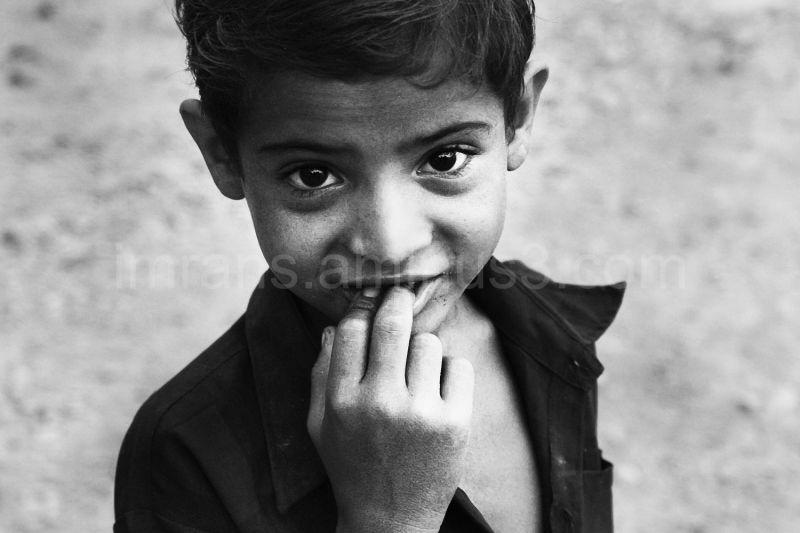 a shy boy