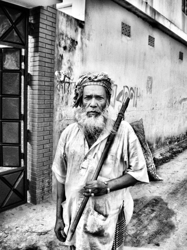 elderly village man