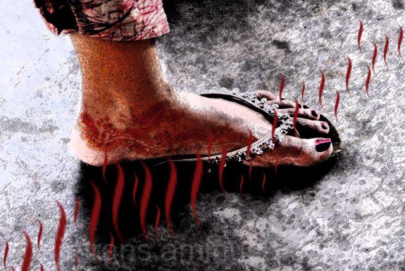 mehendi  feet