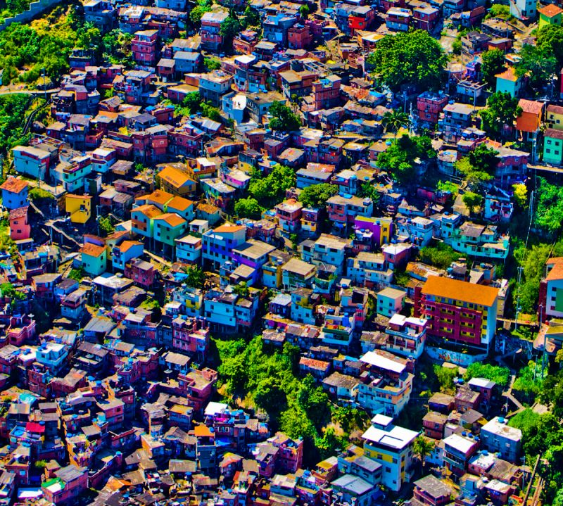 Favela from the air, Rio De Janerio