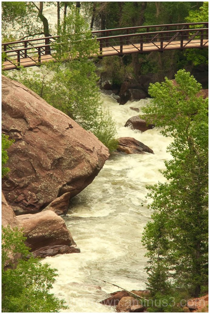 footbridge over south boulder creek