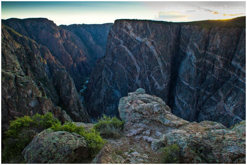 painted wall sunset black canyon of the gunnison
