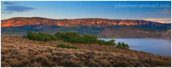 after sunrise at blue mesa reservoir colorado