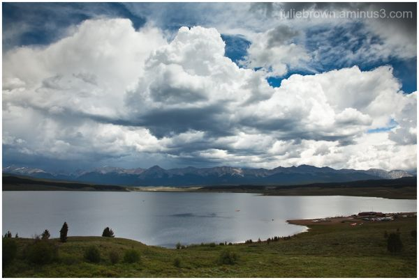 storm clouds over taylor reservoir colorado